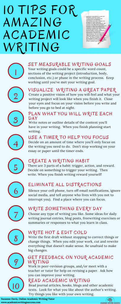 10 Tips for Academic Writing