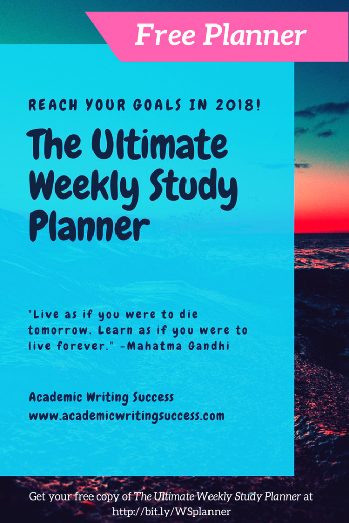 The Ultimate Weekly Study Planner