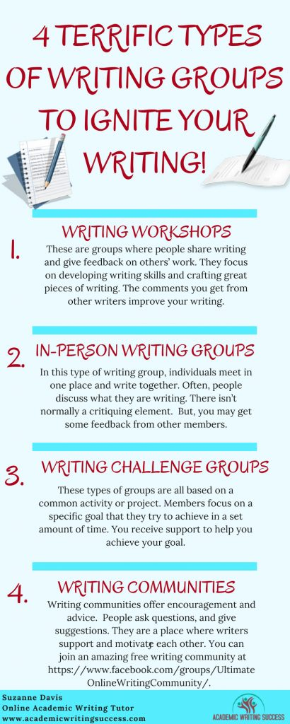 4 Terrific Types of Writing Groups