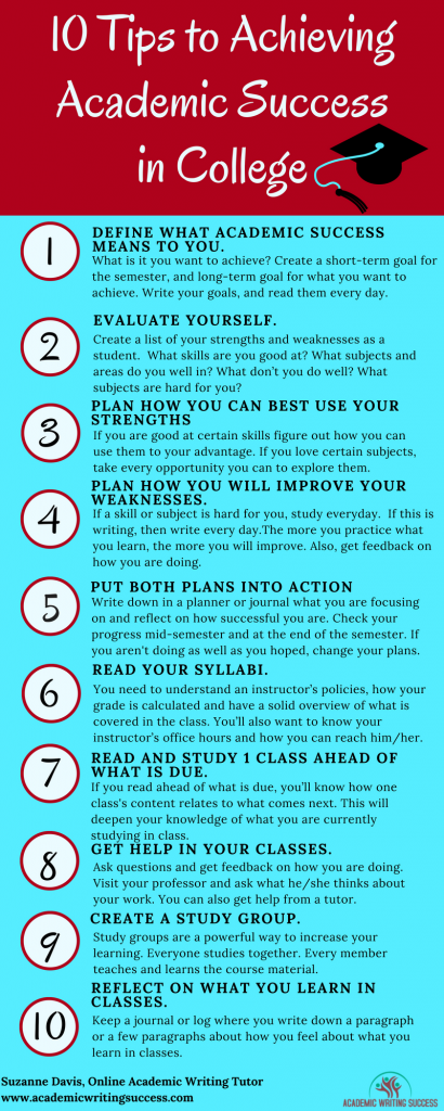 10 Tips to Achieving Academic Success in College