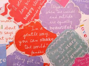 Inspirational Quote--In a Gentle Way You Can Shake the World--Gandhi
