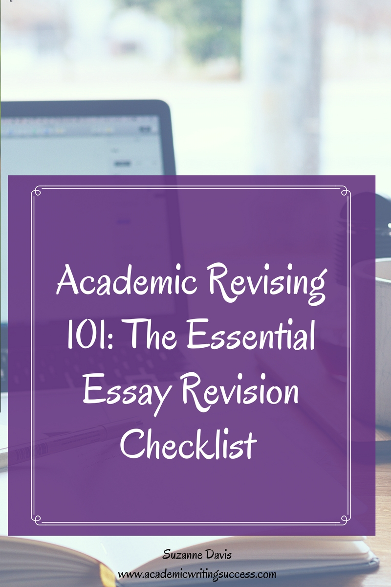 "revising essays checklist A key step in the writing process is to revise and edit work before  both revising  and editing) ""grammar girl's editing checklist"" (a list of."
