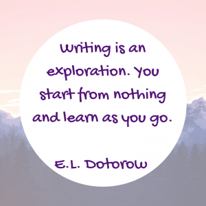 Writing is an exploration-EL Doctorow