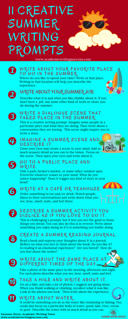 11 Creative Summer Writing Prompts