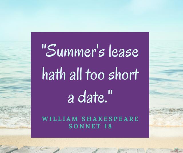 Sonnet 18 William Shakespeare Quote