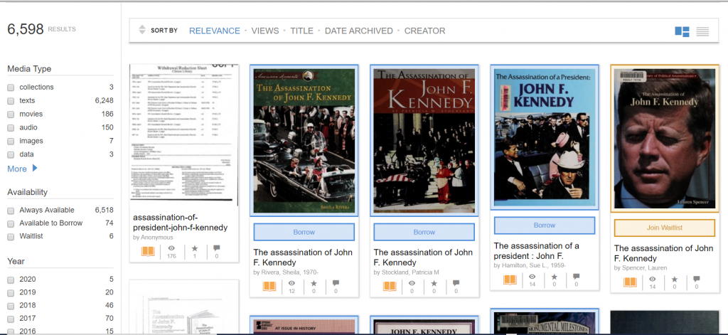 Internet Archive Search Results for President Kennedy's Assassination