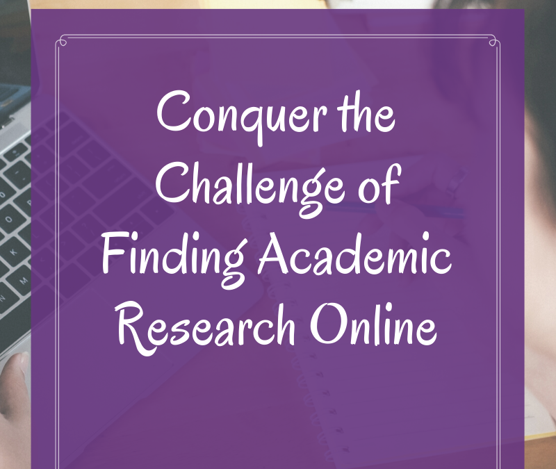 Conquer The Challenge of Finding Academic Research Online