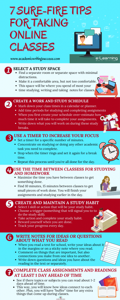 7 Sure-Fire Tip for Taking Online Classes