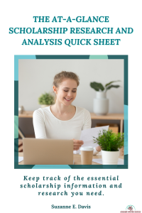 At-A Glance-Scholarship Research and Analysis QuickSheet