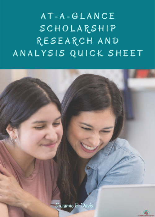 At-A-Glance Scholarship Research and Analysis Quick Sheet